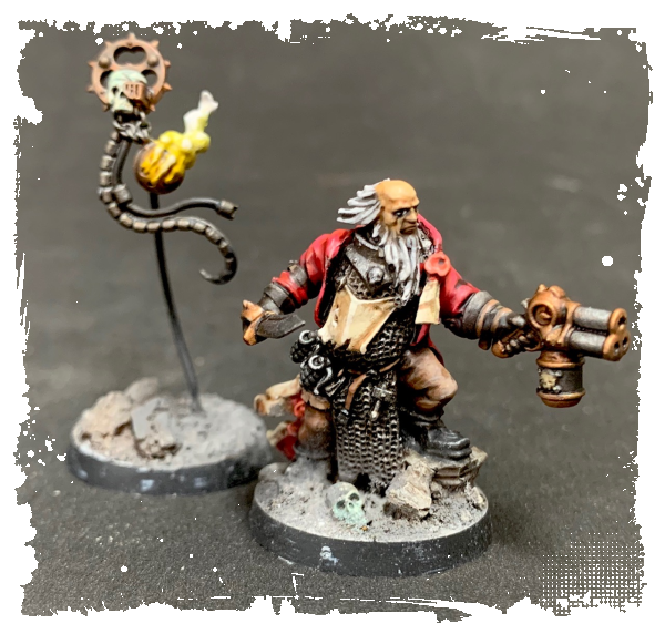 40k Converted Ministorum Peacher & Servo Skull